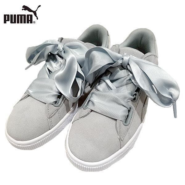 the best attitude a97c3 8a74c PUMA Suede Heart Trainers GREY quarry Metallic Safari