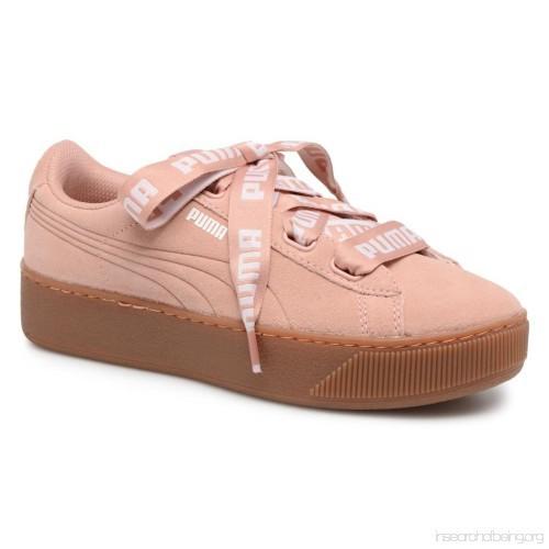 b6beacadab84f2 Puma Vikky Ribbon Platform Sneakers in Pink