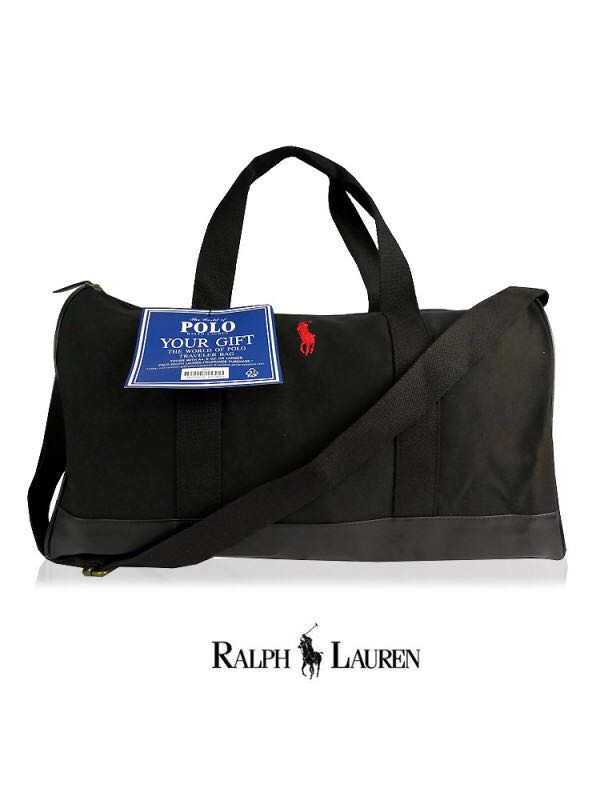 Ralph Lauren Black Duffle Bag, Men s Fashion, Bags   Wallets, Sling ... 19bd43c0aa