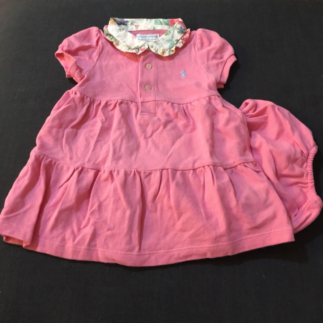a5a90cfc6 Ralph Lauren girl's pink dress, Babies & Kids, Babies Apparel on ...