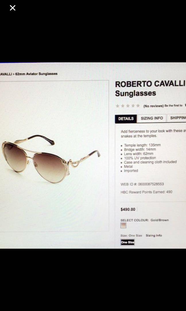 Roberto Cavalli 62mm Aviator sunglasses