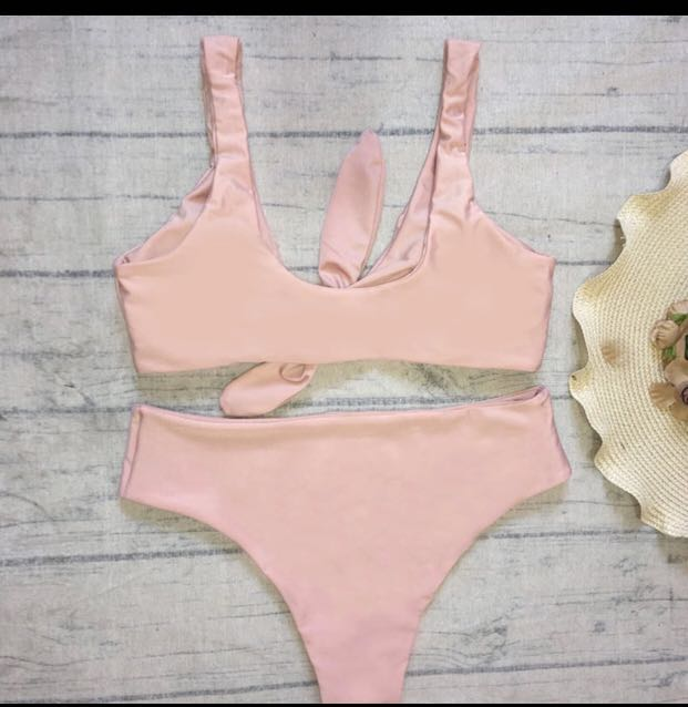 07128ea31a Sexy Solid Biquinis Padded Tied Bowknot High Waist Bikini Set Women Swimsuit,  Women's Fashion, Clothes, Others on Carousell