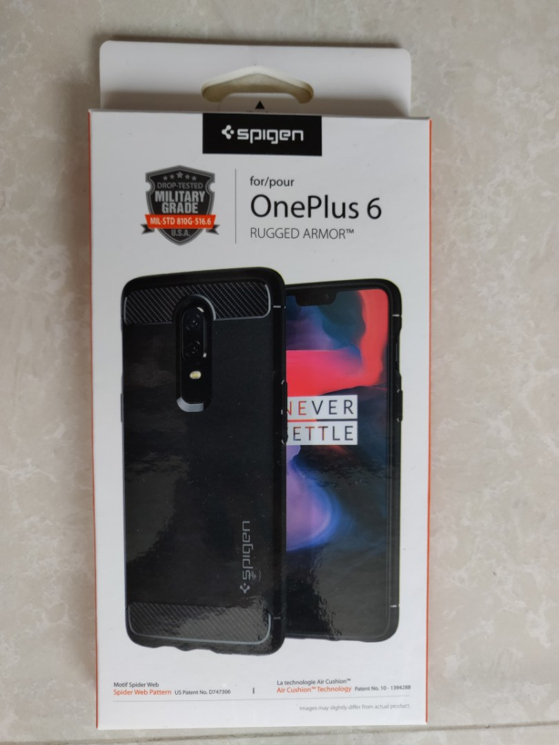uk availability a47f8 f7951 Spigen rugged armor case for oneplus 6