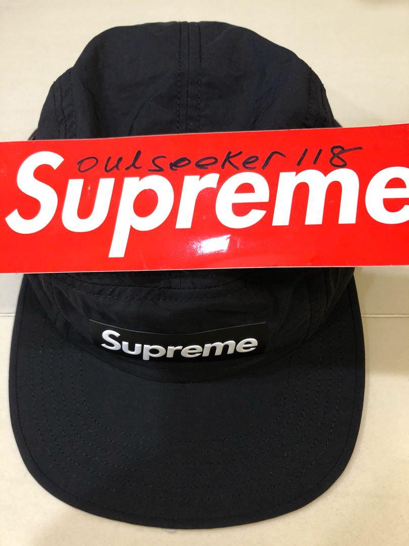 56aea34415f Supreme Raised Logo Patch Camp Cap Black