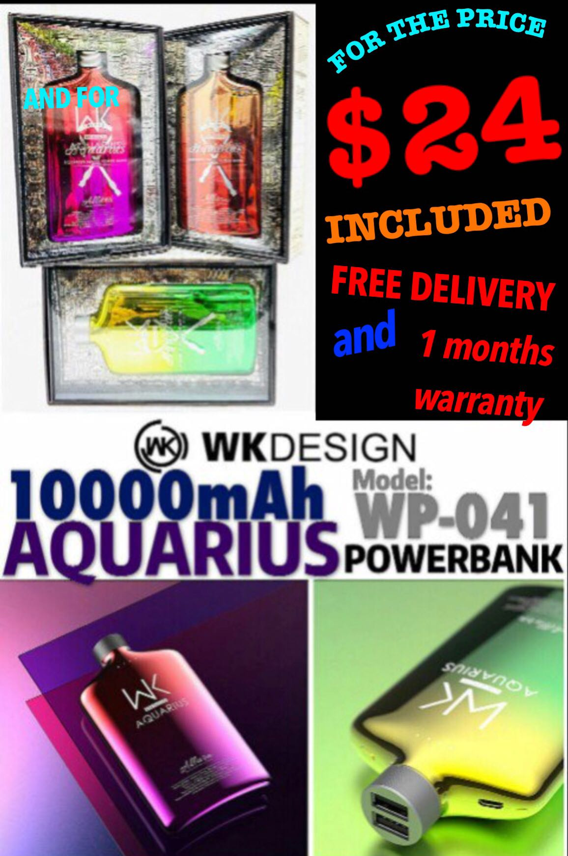 Wp 041 10000mah Power Bank Now Usual The Price Mobile Phones Wk Design Powerbank Mirror 10000 Mah Tablets Tablet Accessories Banks Chargers On Carousell