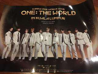 Wanna One Official One:TheWorld Tour Poster 2018