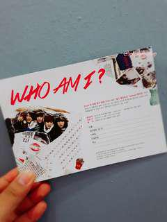 B1A4 WHO AM I OFFICIAL POSTCARD
