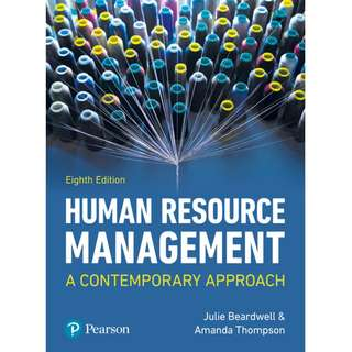 Human Resource Management A Contemporary Approach 8th Eighth Edition by Julie Beardwell, Amanda Thompson - Pearson