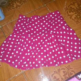 Skirt Red Polkadot