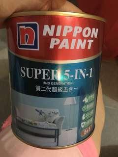 立邦第二代超級五合一乳膠漆(雲天藍)1L
