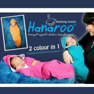 Hanaroo 2 dalam 1 Instant (Swaddle) Bedung Dengan Topi