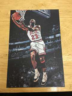 Michael Jordan MJ air jordan 23 chicago bulls 公牛 油畫 收藏卡 nba postcard 籃球 basketball