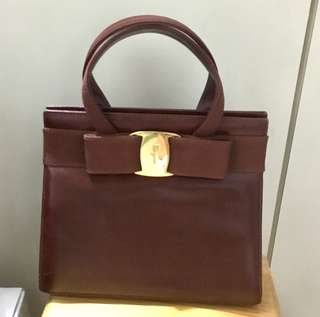 Ferragamo Vara Bow 兩用袋 Calf leather Handbag