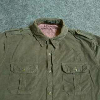 21MEN Corduroy Workshirt Long Sleeve Size S fit to M