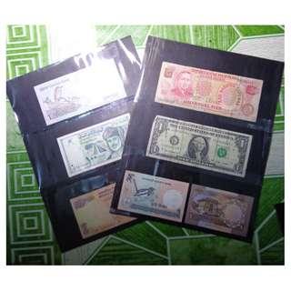 BANK NOTE / PAPER MONEY ALBUM PAGE