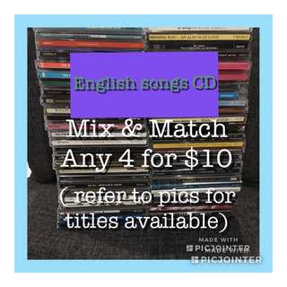 Any 4 for $10 : English Songs CD