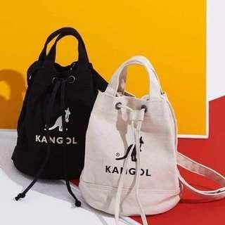 🚚 KANGOL袋鼠帆布水桶包