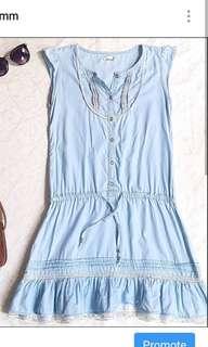 Blue plussize dress cute