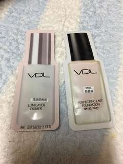 (2包$5包郵)VDL Primer + foundation sample 各1包