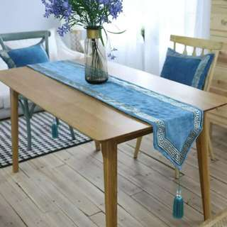 Blue With Border Table Runner 200cm x 30cm