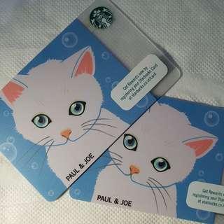 Starbucks Card Paul and Jo Indonesia New Original 100%