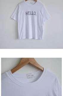 🚚 水莎 Hello字母刺繡tshirt