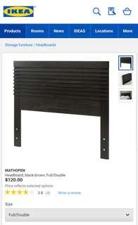 "Ikea ""Mathopen"" headboard full size"