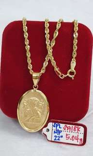 18k saudi gold necklace (22 inches)