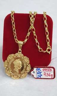 18k saudi gold necklace (24inches)
