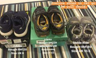 Preloved Branded Kids shoes