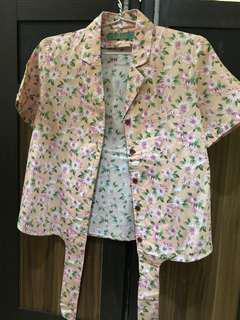 Soft pink flower blazer