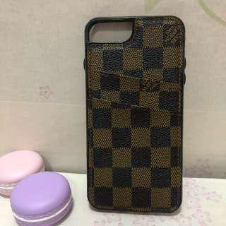 iPhone 7 plus lv double slot card case