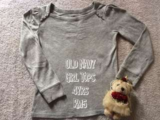 Old Navy Girl Long Sleeve 4yrs