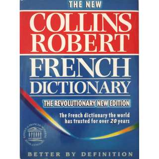 COLLINS FRENCH DICTIONARY (2126 Pages With Hardcover & Book Jacket)