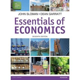 Essentials of Economics 7th Seventh Edition by John Sloman, Dean Garratt - Pearson