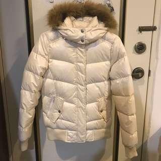Lativ 極暖羽絨外套 米白 M號