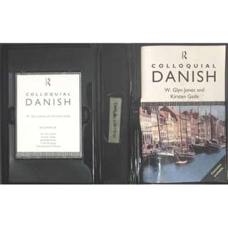 COLLOQUIAL DANISH - THEMATIC GRAMMAR BOOK & TWO 60 mins CASSETTES BY ROUTLEDGE