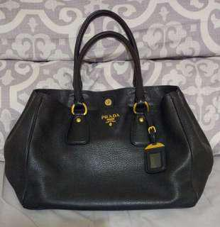 Prada Vit.Daino Nero BR 4482 Authentic
