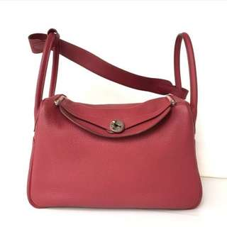 Authentic Hermes Lindy 34 Ruby