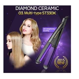 Babyliss NEW DIAMOND CERAMIC Wet Dry MULTI Type Straightener ST330K