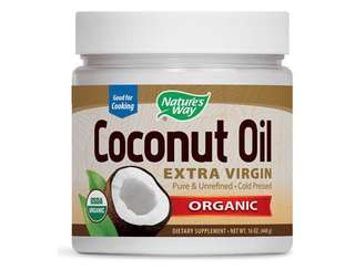 Nature's Way, Organic Coconut Oil, Extra Virgin 有機冷壓初榨椰子油 , 16 oz 448 g