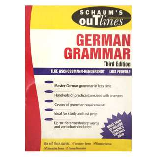 GERMAN GRAMMAR BY SCHAUM'S OUTLINE