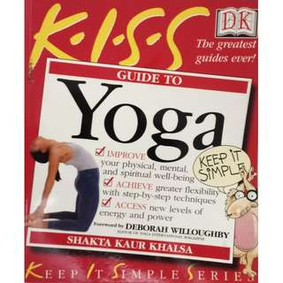 YOGA GUIDE BY K.I.S.S (ALL WITH COLOURED ILLUSTRATIONS IN EVERY SINGLE 352 PAGES)
