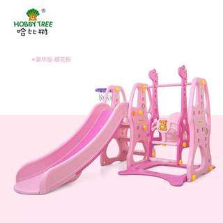 Children's swing / slide / basketball stand / three in one