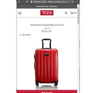 New Tumi V3 International Expandable CarryOn Suitcase Luggage