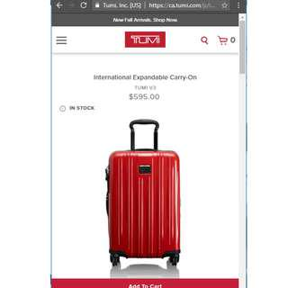 New Tumi V3 International Expandable CarryOn Suitcase Luggage