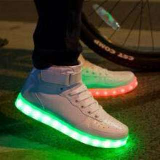 high cut Led light shoes