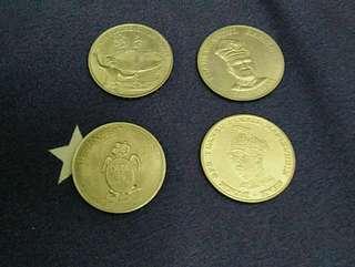 Syiling Peringatan Malaysia $1 (4biji)