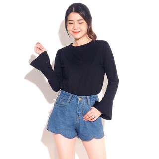 Scalop short jeans