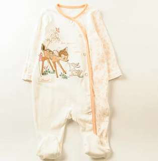 小鹿斑比 Bambi BB嬰兒長袖橙邊連身夾衣(0-3M/6-9M) Disney baby全新